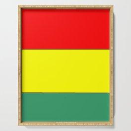 flag of bolivia 3 -bolivian,boliviano,bolivian,Sucre, La Paz. Serving Tray