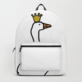 White Goose Wears Stolen Crown Backpack