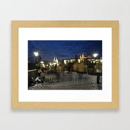 Prague Beggar Framed Art Print