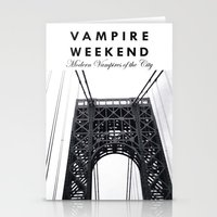 vampire weekend Stationery Cards featuring Vampire Weekend / George Washington Bridge by Harold's Visuals