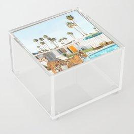 Tigers at the Pool Acrylic Box