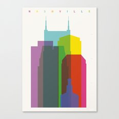 Shapes of Nashville Canvas Print