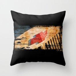 Chevy Rat Rod Badge Throw Pillow