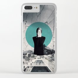 I'm closing my eyes to hear the people laugh ... Clear iPhone Case
