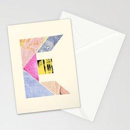 Collaged Tangram Alphabet - E Stationery Cards
