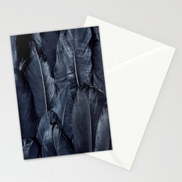 Mystic Black Feather Close Up Stationery Cards