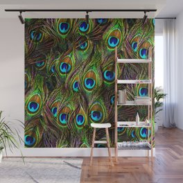 Peacock Feathers Invasion - Wave Wall Mural