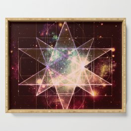 Galaxy Sacred Geometry : Stellated Icoshadron Warmth Serving Tray