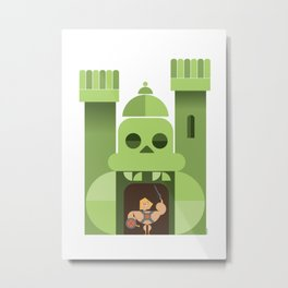abstract greyskull castle Metal Print