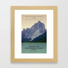 Nahanni National Park Poster Framed Art Print
