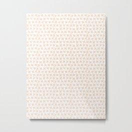 Blush Crosses Metal Print