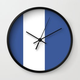 Blue And White Stripe Wall Clock