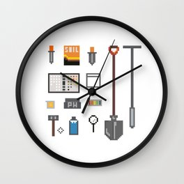 Soil Science Tools Wall Clock