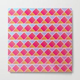 Fuchsia triangles Metal Print