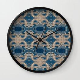 Shades of Blue Abstract Wall Clock