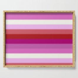 Lesbian Pride Flag v2 Serving Tray