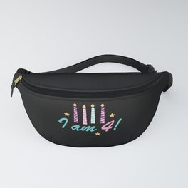 Children's T-shirt J 4 Years Old Gift Fanny Pack