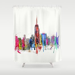 new york inked  Shower Curtain