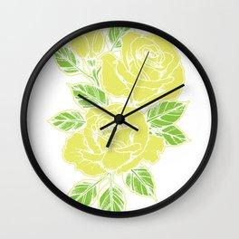 Rose yellow nature tattoo symbol flower love gift Wall Clock