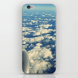 flying over mountain tops iPhone Skin
