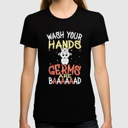 Wash Your Hands Germs Are Bad School Nurse Sheep T-shirt