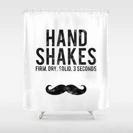 The Handshake Law Shower Curtain