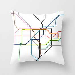 London tube Throw Pillow