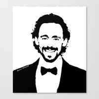 tom hiddleston Canvas Prints featuring Tom Hiddleston by Quinnlee