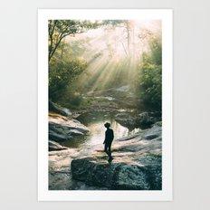 Panther Falls, VA Art Print