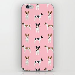 Rat Terrier dog breed decor gifts pure breed dogs pink iPhone Skin