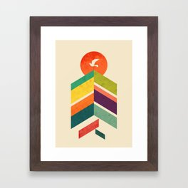 Lingering Mountains Framed Art Print