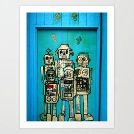 Robot Door Art Print