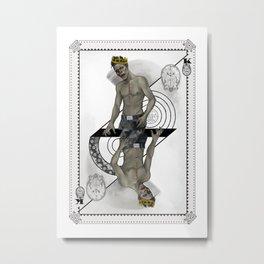 King of Brains Metal Print