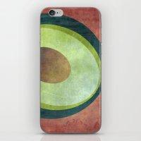 avocado iPhone & iPod Skins featuring Avocado by Red Coat Studio Design