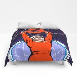 Soviet Propaganda. Yuri Gagarin Comforters
