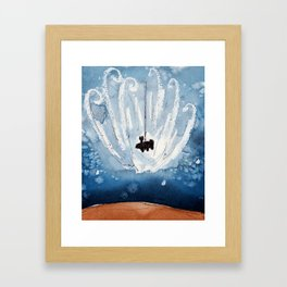 The Landing of Curiosity Framed Art Print