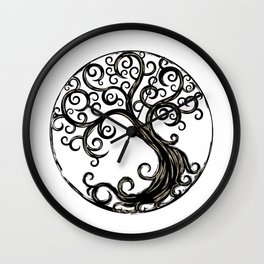 Circle Tree Wall Clock