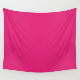 Deep Cerise Cubic Wall Tapestry