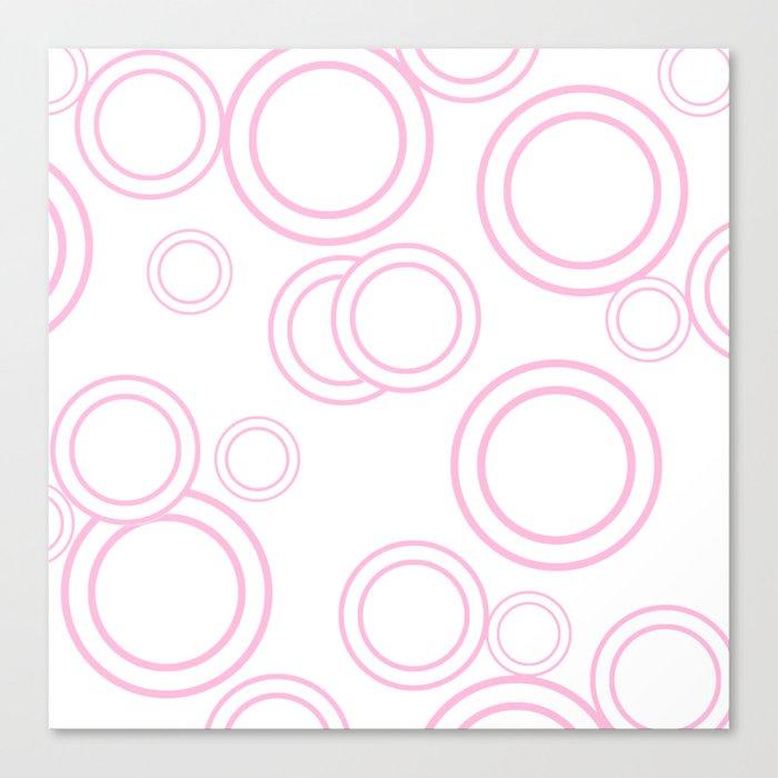 Abstract circles - abstract pattern - pink Canvas Print