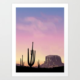 Desert series 1 Art Print