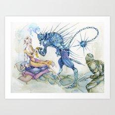 Porcupine Knight Art Print