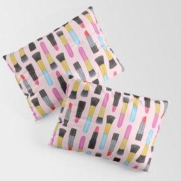 Make-up and Lipstick Watercolor pattern | Girly Pattern | Beauty pattern | Pink art | Lovely art Pillow Sham