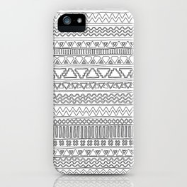 Keef Black and White iPhone Case