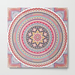 Mandala Colorful Bohemian Gypsy Metal Print