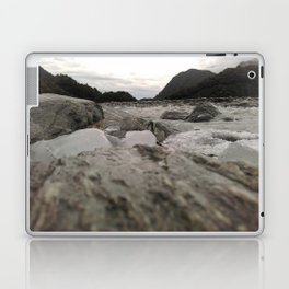 franz josef glacier in new zealand river with ice cubes rough cold Laptop & iPad Skin