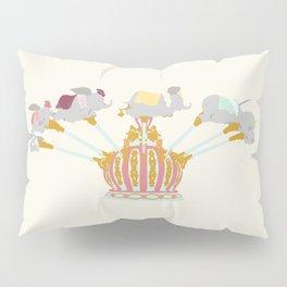 Elephant Flight - Cream Pillow Sham