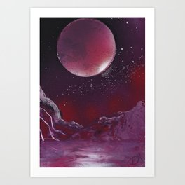 Purple Reflection Art Print
