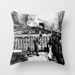 Hawkes Farm, 1970 Marblehead, MA Throw Pillow