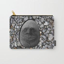 Happy Alien Monster Rock face , portrait in stone effect Carry-All Pouch