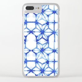 Abstract geometric star Clear iPhone Case